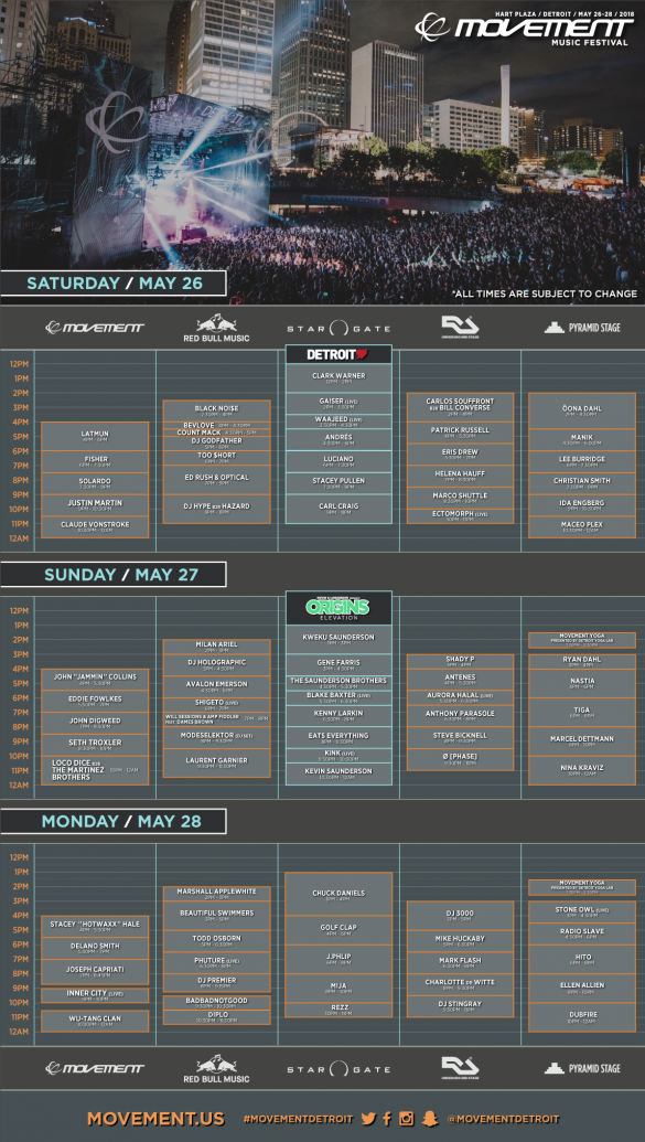 Movement Schedule