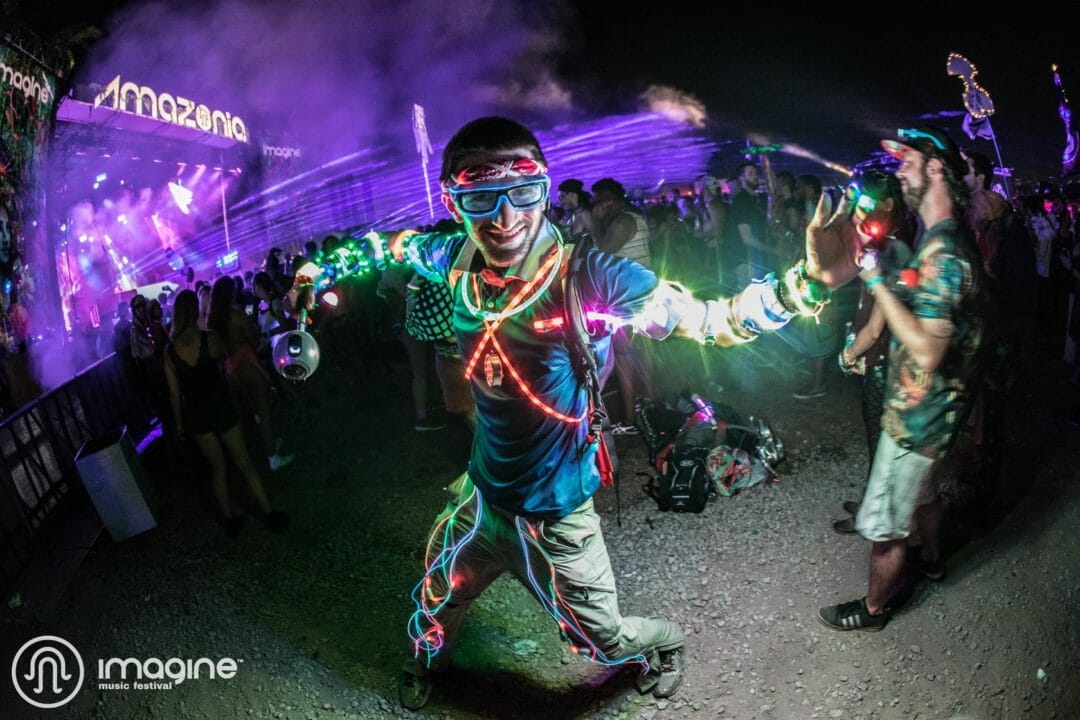 Light up festival costume