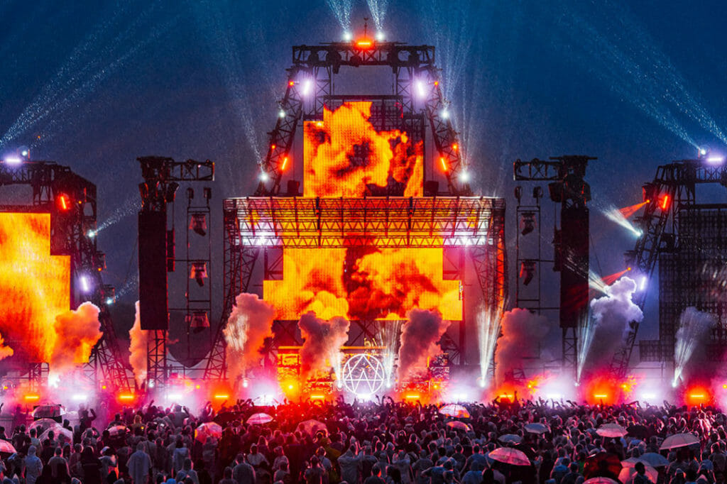 EDC Japan Stage and Fire