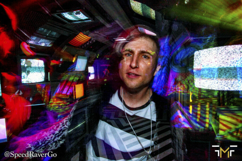 Meow Wolf trippy tv hall