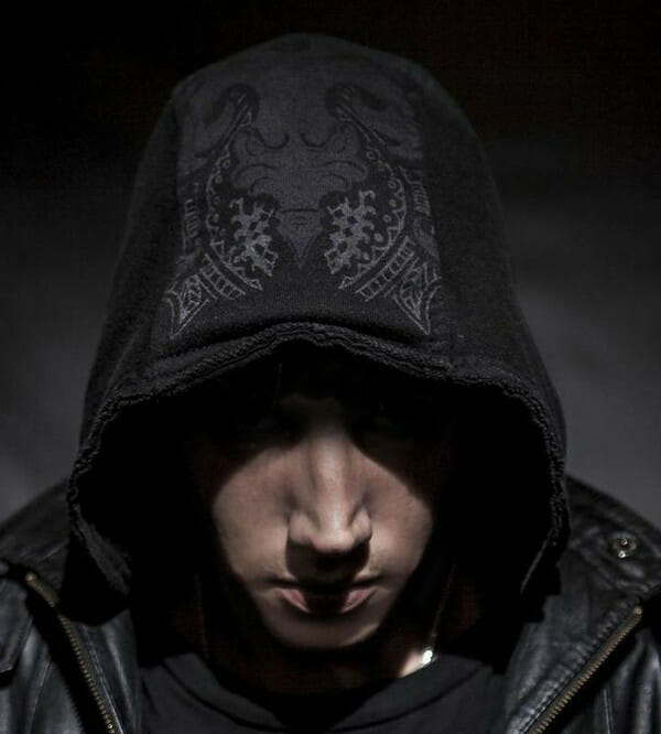 Liquid Stranger Dark Hooded Shot