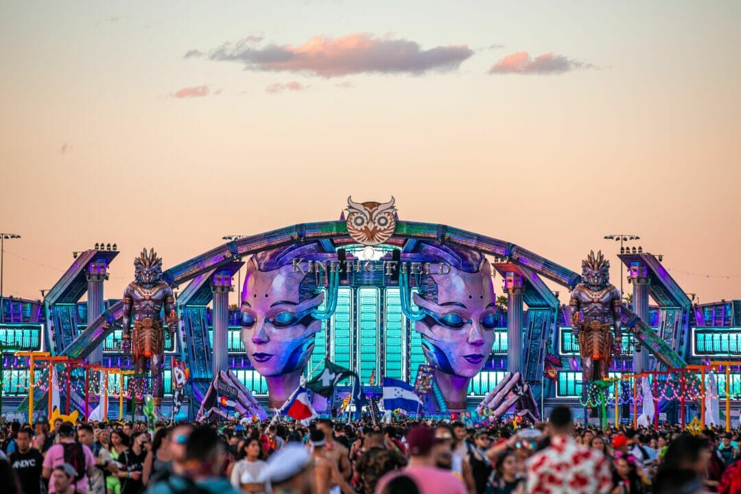 EDC Las Vegas 2019 Mainstage at dawn
