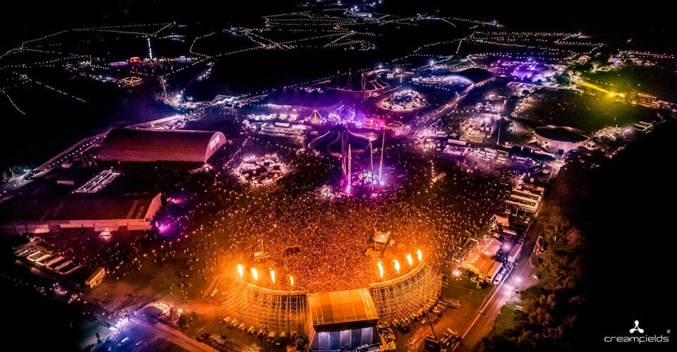 Creamfields Arial View