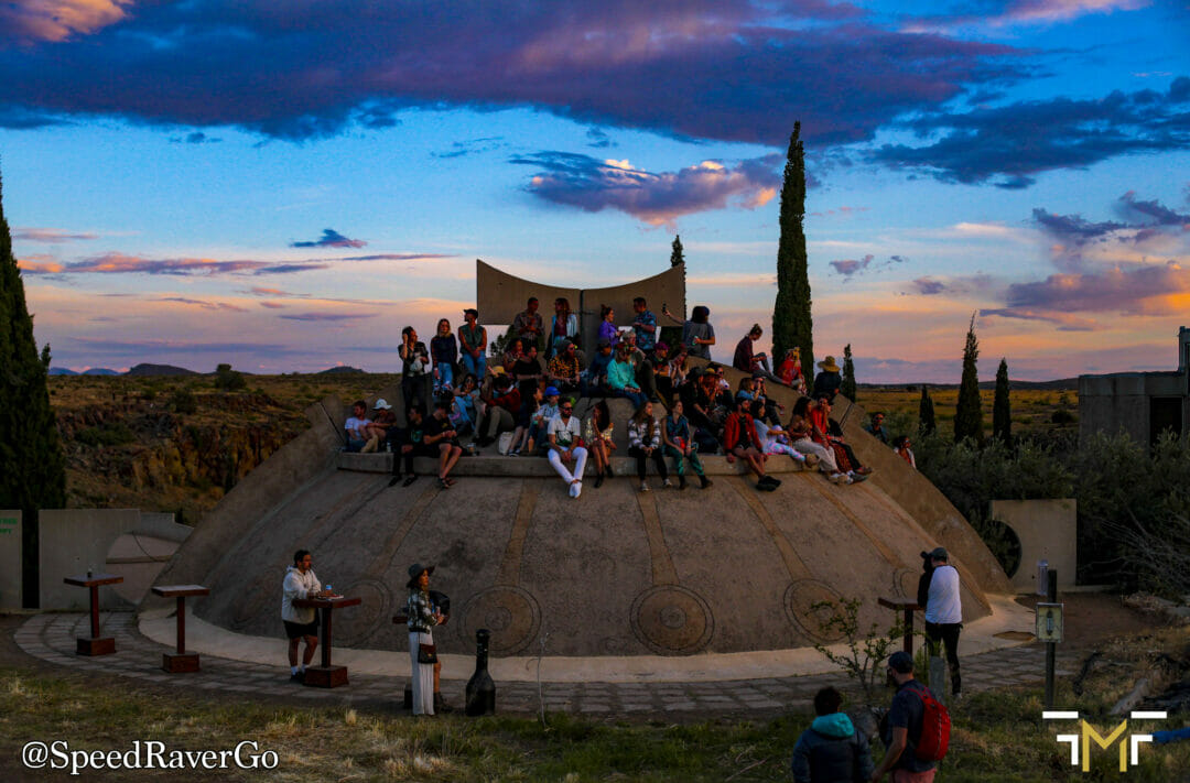 Sunset over the Apse FORM Arcosanti