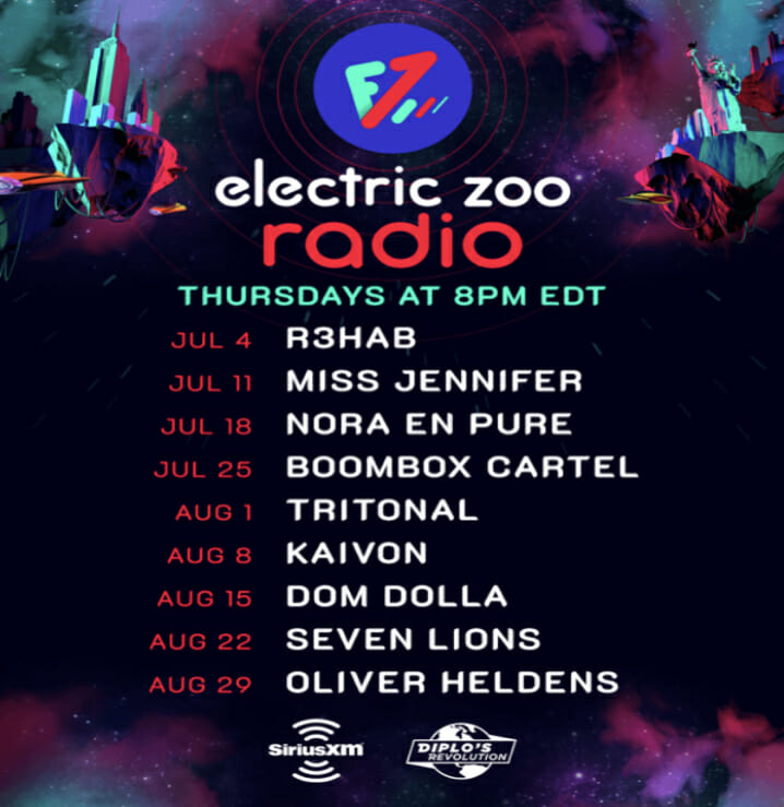 Catch Electric Zoo Radio every Thursday on Diplo's Revolution on SiriusXM.