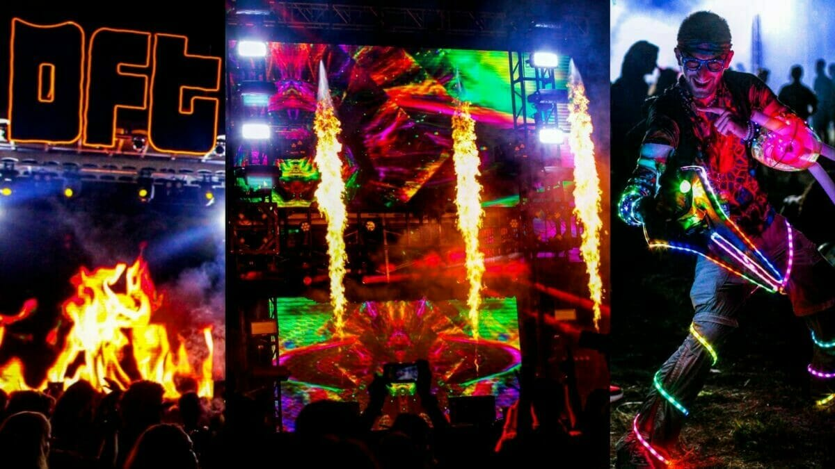 Fire, flames and the wizard at Dancefestopia