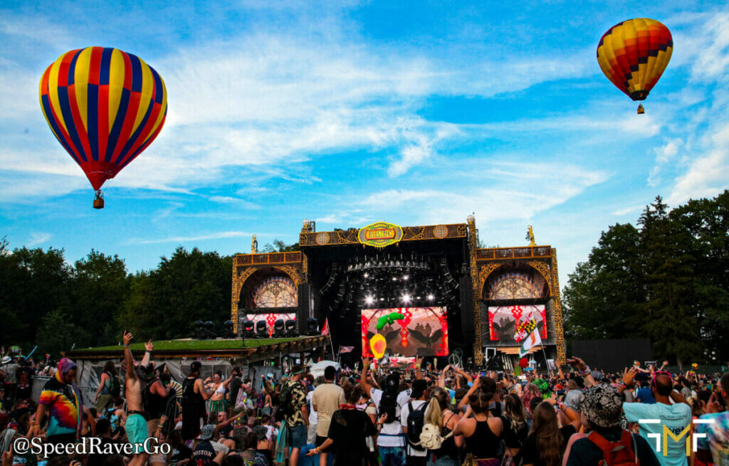 Hot air balloons ranch arena Electric Forest Hippie Sabotage