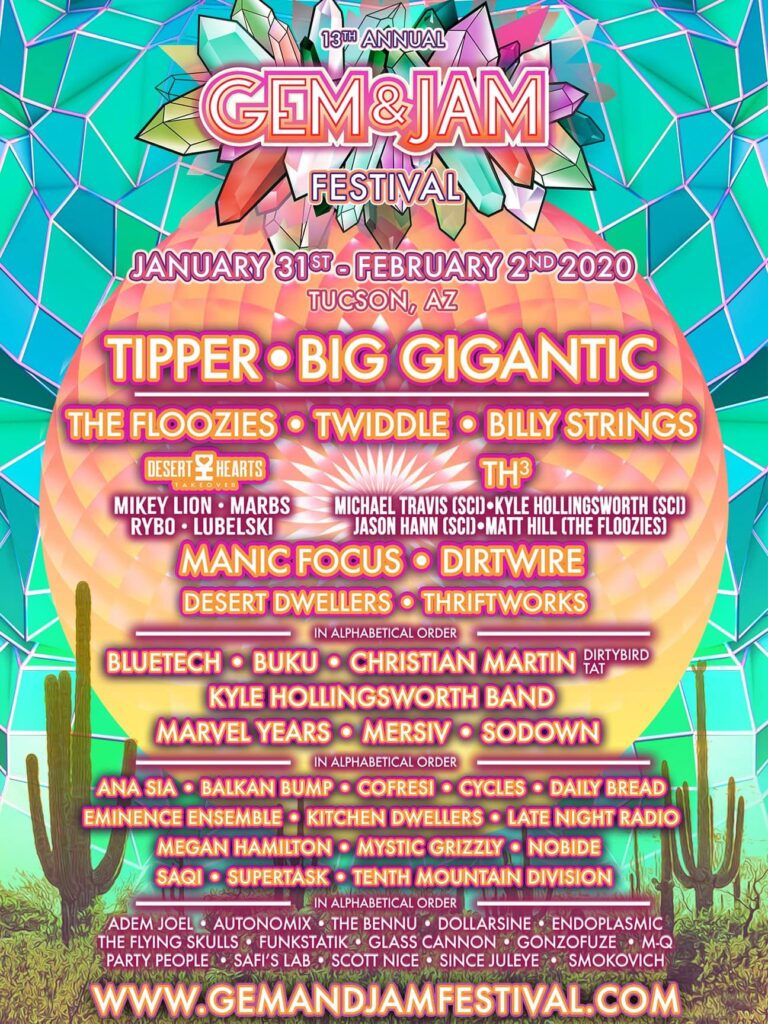 Gem & Jam 2020 featuring Tipper, Big Gigantic, Desert Dwellers and more!