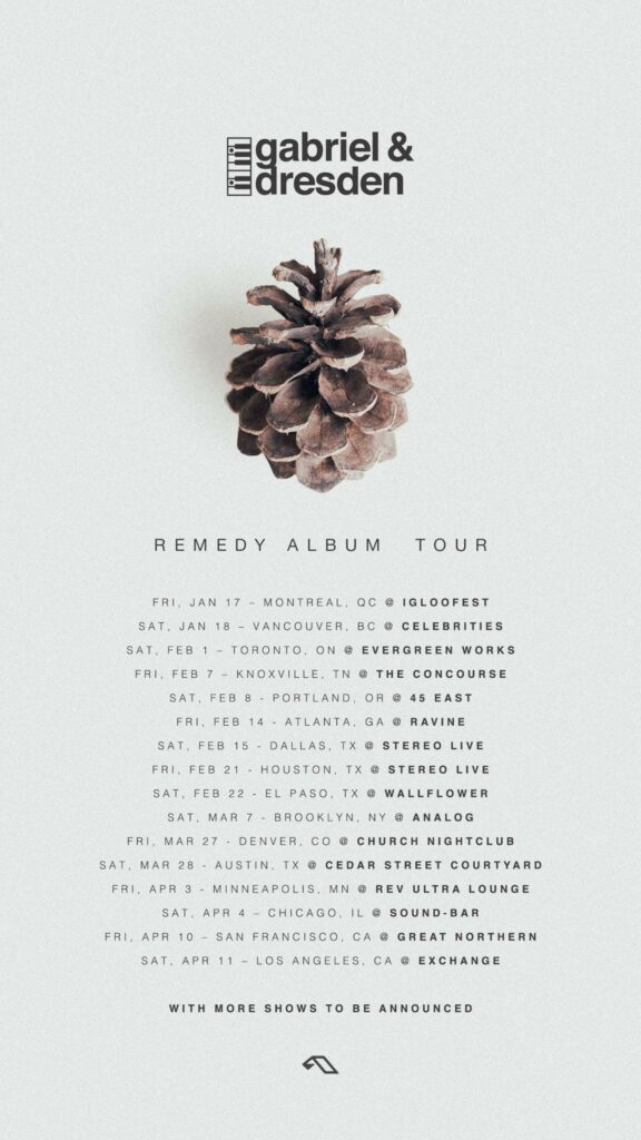 Gabriel and Dresden's Remedy Tour dates!
