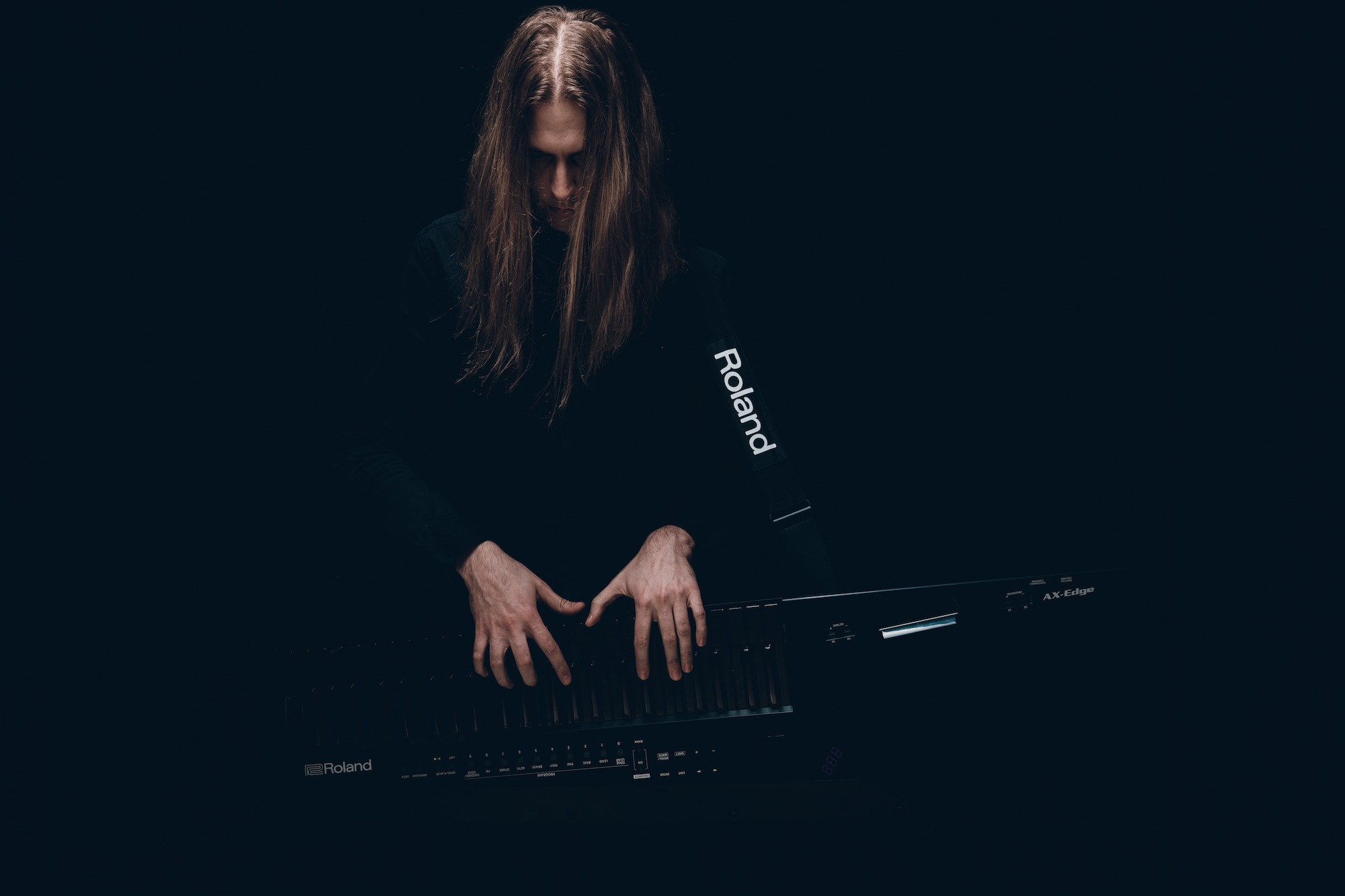 Axel playing his Roland Ax Edge