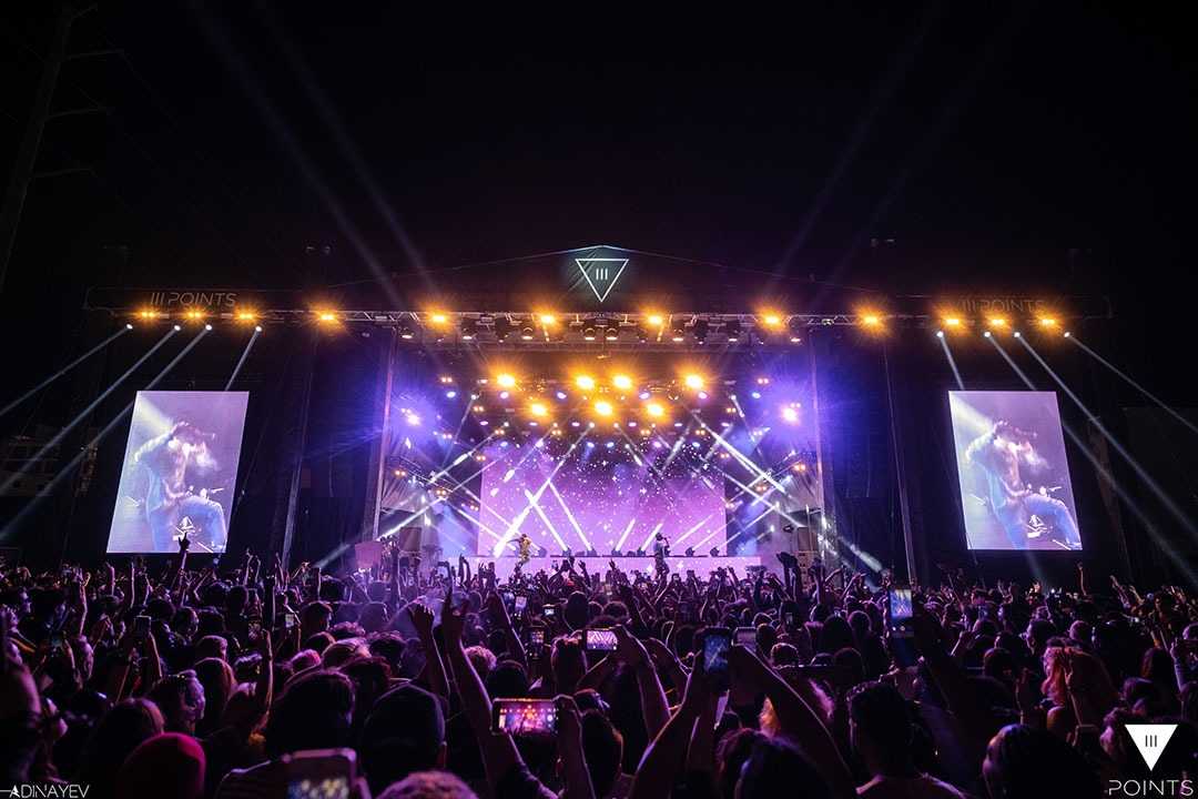 III Points Stage at night