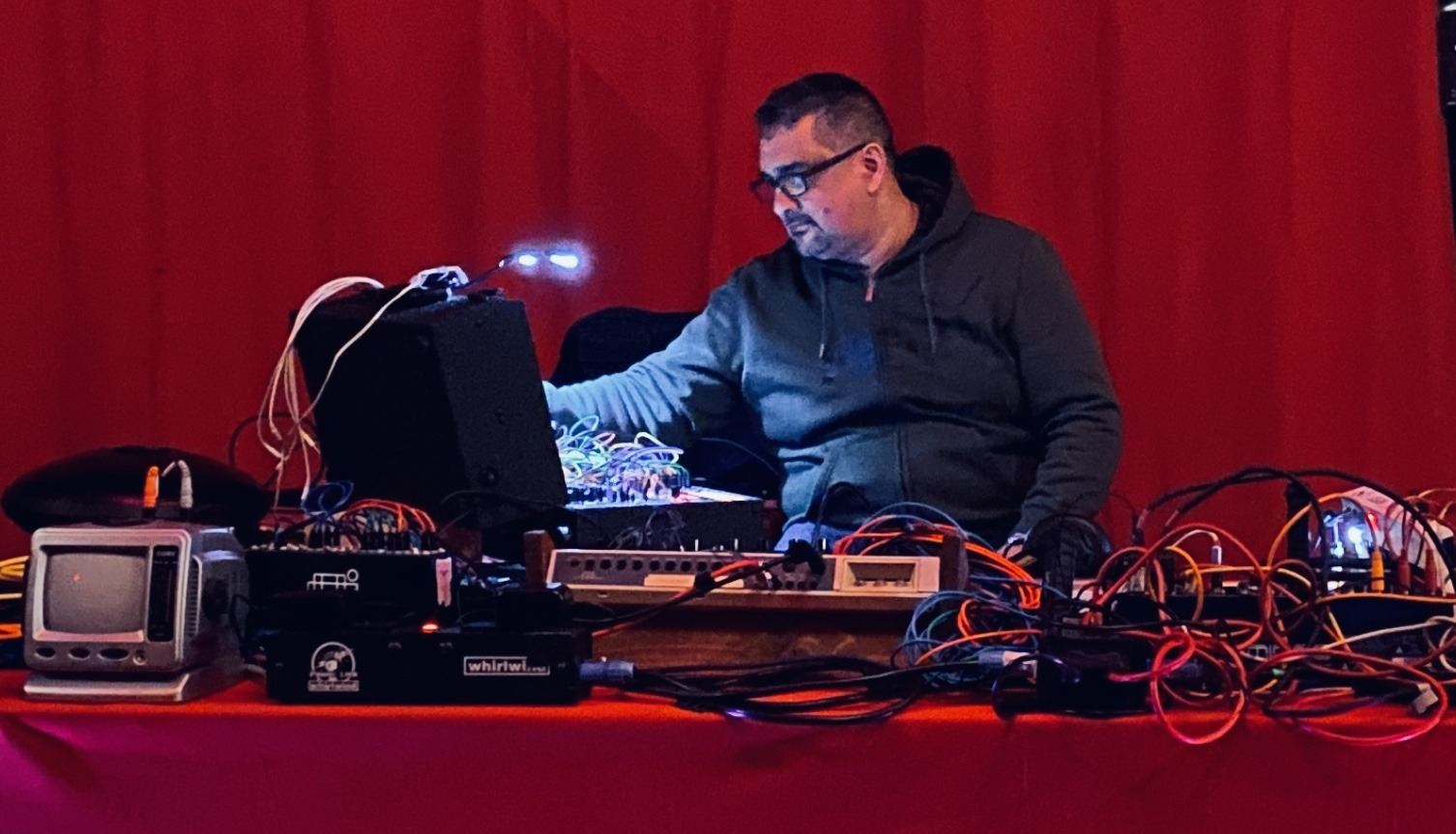Abe Duque in the Ambient Lounge at Cityfox Live 2020